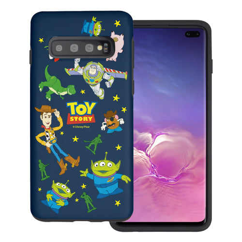 Galaxy S10 Plus Case (6.4inch) Toy Story Layered Hybrid [TPU + PC] Bumper Cover - Pattern Toy Story