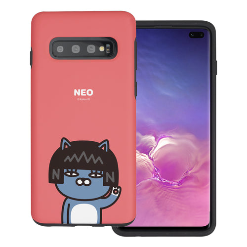 Galaxy S10 5G Case (6.7inch) Kakao Friends Layered Hybrid [TPU + PC] Bumper Cover - Greeting Neo