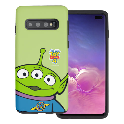 Galaxy S10 Plus Case (6.4inch) Toy Story Layered Hybrid [TPU + PC] Bumper Cover - Wide Alien