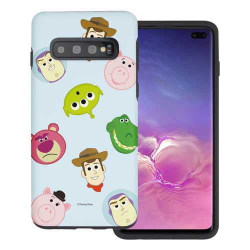 Galaxy S10 Plus Case (6.4inch) Toy Story Layered Hybrid [TPU + PC] Bumper Cover - Pattern Face