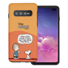 Load image into Gallery viewer, Galaxy S10 Plus Case (6.4inch) PEANUTS Layered Hybrid [TPU + PC] Bumper Cover - Cartoon Linus & Snoopy