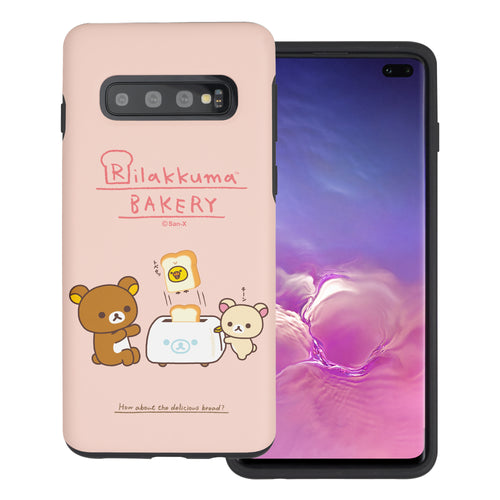 Galaxy S10e Case (5.8inch) Rilakkuma Layered Hybrid [TPU + PC] Bumper Cover - Rilakkuma Toast