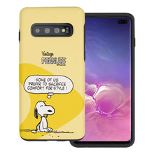 Load image into Gallery viewer, Galaxy S10e Case (5.8inch) PEANUTS Layered Hybrid [TPU + PC] Bumper Cover - Cartoon Snoopy Style