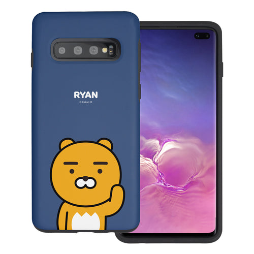 Galaxy S10 5G Case (6.7inch) Kakao Friends Layered Hybrid [TPU + PC] Bumper Cover - Greeting Ryan