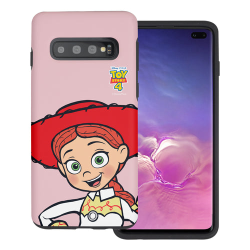 Galaxy S10 Plus Case (6.4inch) Toy Story Layered Hybrid [TPU + PC] Bumper Cover - Wide Jessie