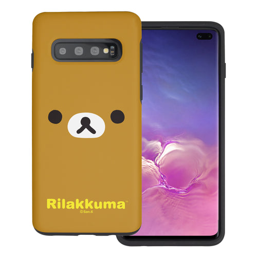 Galaxy S10e Case (5.8inch) Rilakkuma Layered Hybrid [TPU + PC] Bumper Cover - Face Rilakkuma