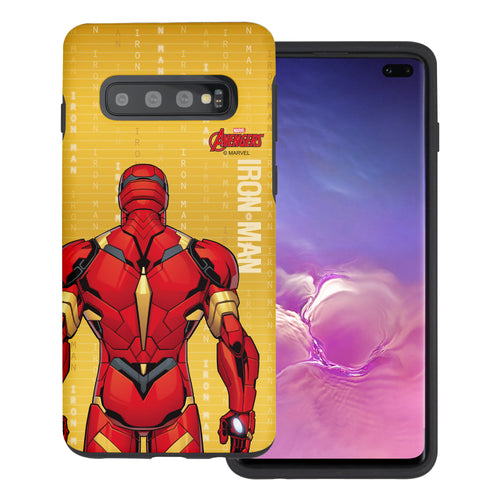 Galaxy S10 Plus Case (6.4inch) Marvel Avengers Layered Hybrid [TPU + PC] Bumper Cover - Back Iron