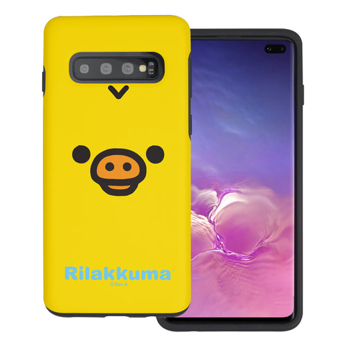 Galaxy S10e Case (5.8inch) Rilakkuma Layered Hybrid [TPU + PC] Bumper Cover - Face Kiiroitori