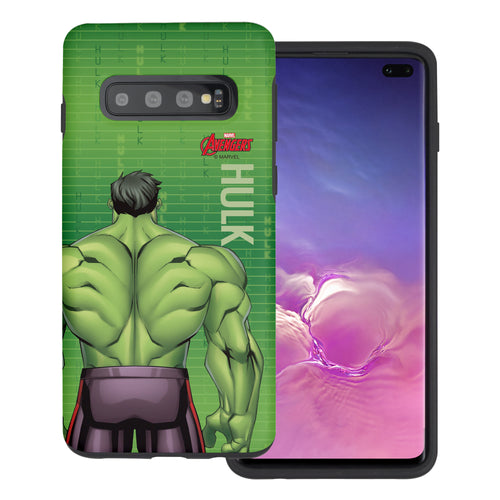 Galaxy S10 5G Case (6.7inch) Marvel Avengers Layered Hybrid [TPU + PC] Bumper Cover - Back Huk