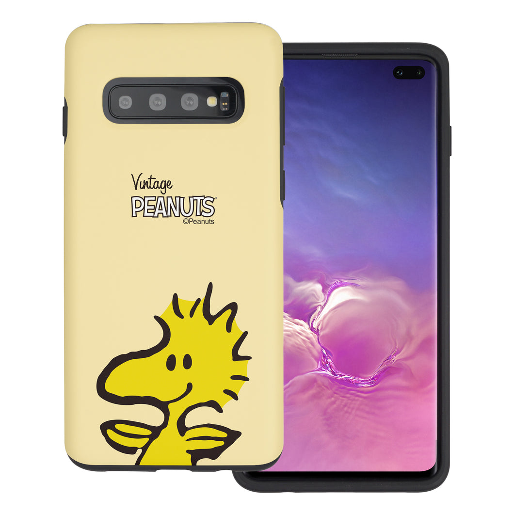 Galaxy S10 5G Case (6.7inch) PEANUTS Layered Hybrid [TPU + PC] Bumper Cover - Face Woodstock