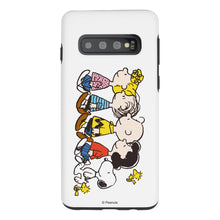 Load image into Gallery viewer, Galaxy S10e Case (5.8inch) PEANUTS Layered Hybrid [TPU + PC] Bumper Cover - Peanuts Friends Stand