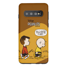 Load image into Gallery viewer, Galaxy S10e Case (5.8inch) PEANUTS Layered Hybrid [TPU + PC] Bumper Cover - Cartoon Hero