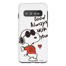 Load image into Gallery viewer, Galaxy S10e Case (5.8inch) PEANUTS Layered Hybrid [TPU + PC] Bumper Cover - Snoopy Love Red