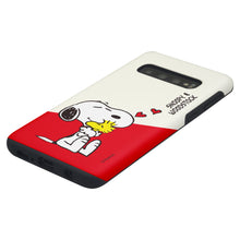 Load image into Gallery viewer, Galaxy S10 Case (6.1inch) PEANUTS Layered Hybrid [TPU + PC] Bumper Cover - Diagonal Snoopy