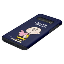 Load image into Gallery viewer, Galaxy S10 Plus Case (6.4inch) PEANUTS Layered Hybrid [TPU + PC] Bumper Cover - Charlie Brown Big Heart