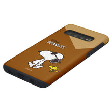 Load image into Gallery viewer, Galaxy S10e Case (5.8inch) PEANUTS Layered Hybrid [TPU + PC] Bumper Cover - Vivid Snoopy Woodstock