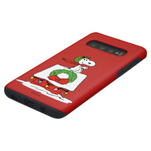 Load image into Gallery viewer, Galaxy S10 Case (6.1inch) PEANUTS Layered Hybrid [TPU + PC] Bumper Cover - Christmas Wreath Snoopy