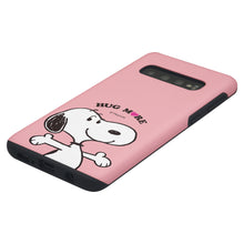 Load image into Gallery viewer, Galaxy S10e Case (5.8inch) PEANUTS Layered Hybrid [TPU + PC] Bumper Cover - Hug Snoopy
