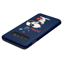 Load image into Gallery viewer, Galaxy S10 Plus Case (6.4inch) PEANUTS Layered Hybrid [TPU + PC] Bumper Cover - Snoopy Pow Navy