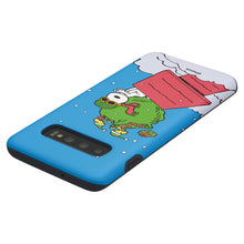 Load image into Gallery viewer, Galaxy S10 Plus Case (6.4inch) PEANUTS Layered Hybrid [TPU + PC] Bumper Cover - Christmas Gift Bag Snoopy