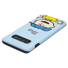 Load image into Gallery viewer, Galaxy S10 Case (6.1inch) PEANUTS Layered Hybrid [TPU + PC] Bumper Cover - Face Charlie Brown
