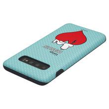 Load image into Gallery viewer, Galaxy S10 Case (6.1inch) PEANUTS Layered Hybrid [TPU + PC] Bumper Cover - Smack Snoopy Heart