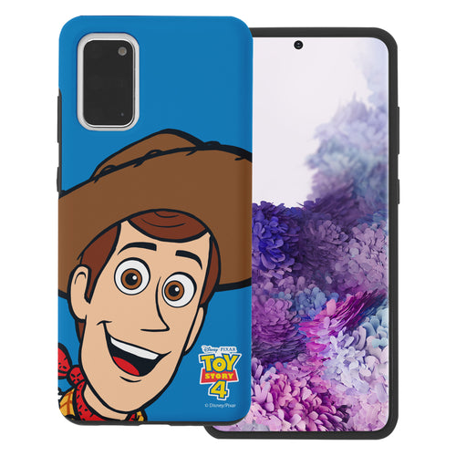 Galaxy S20 Plus Case (6.7inch) Toy Story Layered Hybrid [TPU + PC] Bumper Cover - Wide Woody