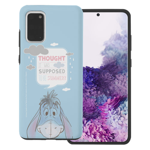 Galaxy S20 Case (6.2inch) Disney Pooh Layered Hybrid [TPU + PC] Bumper Cover - Words Eeyore Face