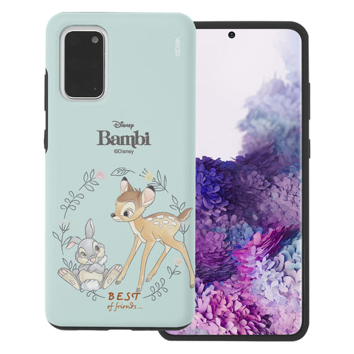 Galaxy S20 Case (6.2inch) Disney Bambi Layered Hybrid [TPU + PC] Bumper Cover - Full Bambi Thumper
