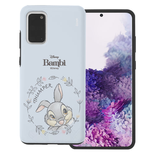 Galaxy S20 Case (6.2inch) Disney Bambi Layered Hybrid [TPU + PC] Bumper Cover - Face Thumper