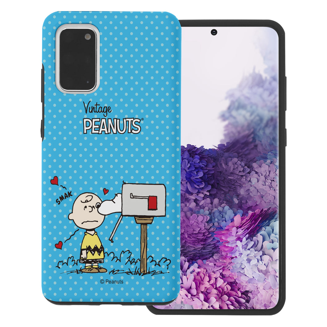 Galaxy S20 Ultra Case (6.9inch) PEANUTS Layered Hybrid [TPU + PC] Bumper Cover - Smack Charlie Brown Mailbox