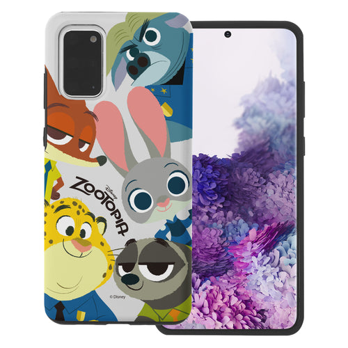 Galaxy S20 Case (6.2inch) Disney Zootopia Layered Hybrid [TPU + PC] Bumper Cover - Zootopia Big