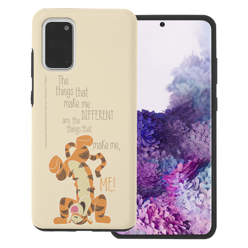 Galaxy S20 Case (6.2inch) Disney Pooh Layered Hybrid [TPU + PC] Bumper Cover - Words Tigger