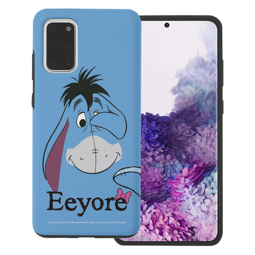 Galaxy Note20 Case (6.7inch) Disney Pooh Layered Hybrid [TPU + PC] Bumper Cover - Face Line Eeyore