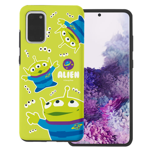 Galaxy S20 Plus Case (6.7inch) Toy Story Layered Hybrid [TPU + PC] Bumper Cover - Pattern Alien Eyes