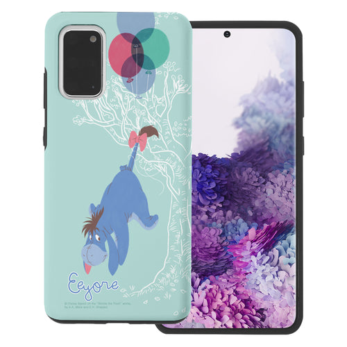 Galaxy S20 Case (6.2inch) Disney Pooh Layered Hybrid [TPU + PC] Bumper Cover - Balloon Eeyore