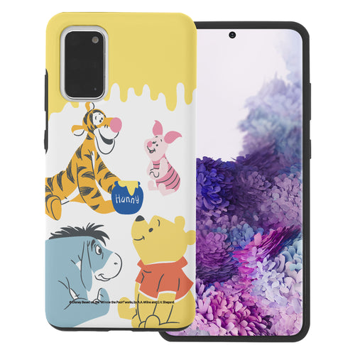 Galaxy S20 Case (6.2inch) Disney Pooh Layered Hybrid [TPU + PC] Bumper Cover - Pooh Friends