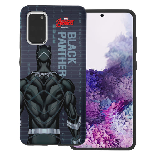 Galaxy Note20 Case (6.7inch) Marvel Avengers Layered Hybrid [TPU + PC] Bumper Cover - Back Panther