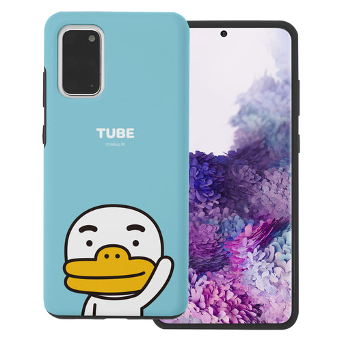 Galaxy S20 Plus Case (6.7inch) Kakao Friends Layered Hybrid [TPU + PC] Bumper Cover - Greeting Tube