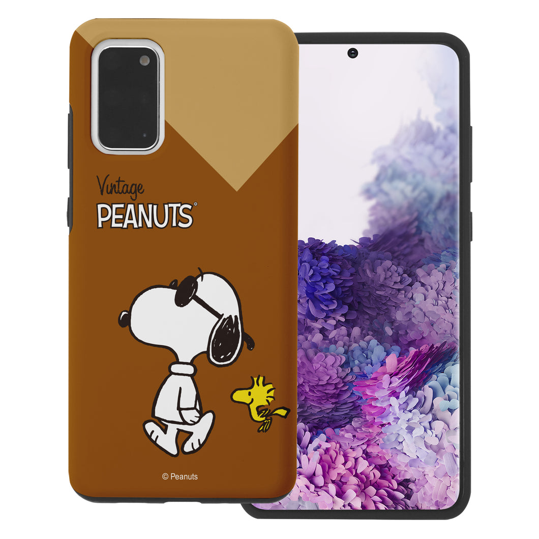Galaxy S20 Ultra Case (6.9inch) PEANUTS Layered Hybrid [TPU + PC] Bumper Cover - Vivid Snoopy Woodstock