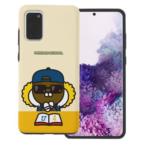 Galaxy S20 Case (6.2inch) Kakao Friends Layered Hybrid [TPU + PC] Bumper Cover - School Jay-G