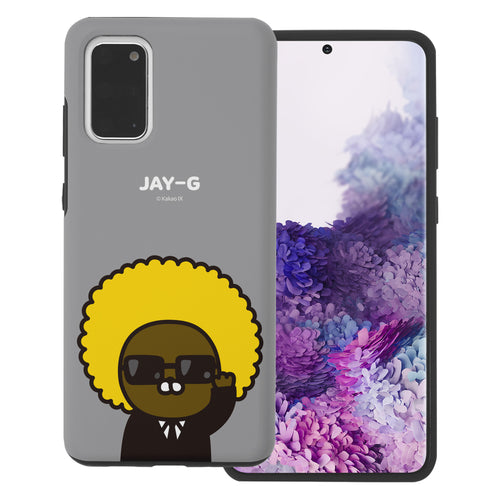 Galaxy S20 Plus Case (6.7inch) Kakao Friends Layered Hybrid [TPU + PC] Bumper Cover - Greeting Jay-G
