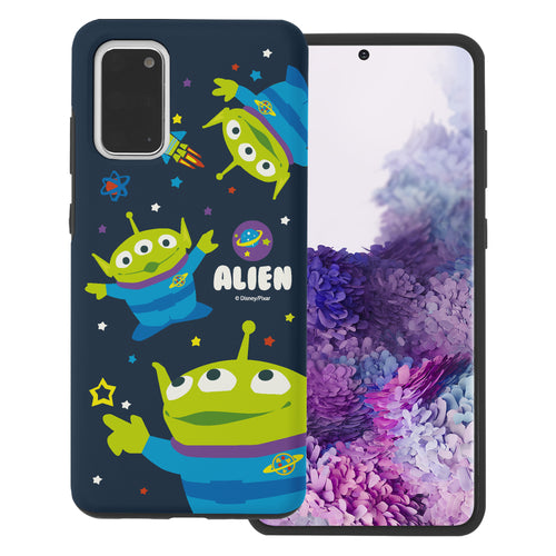 Galaxy Note20 Case (6.7inch) Toy Story Layered Hybrid [TPU + PC] Bumper Cover - Pattern Alien Space