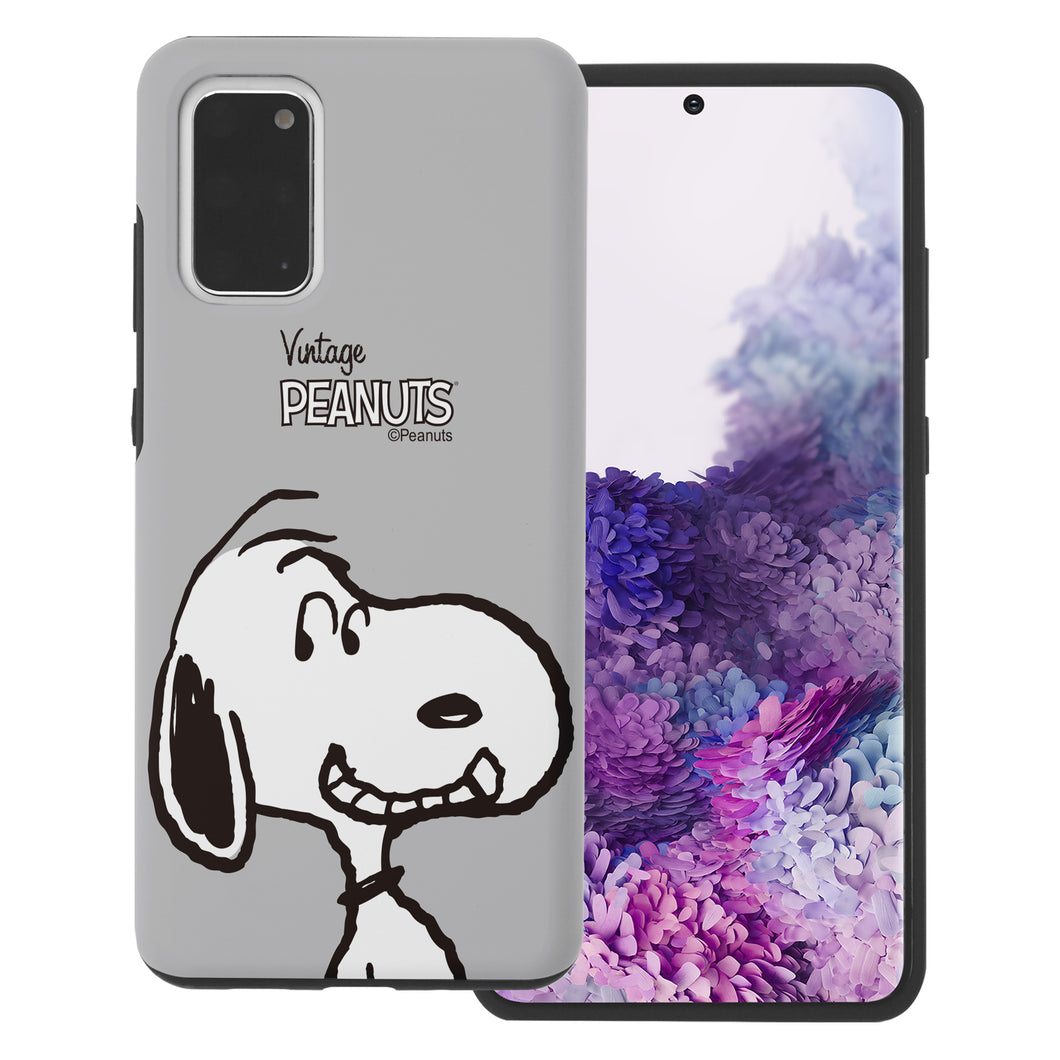 Galaxy S20 Ultra Case (6.9inch) PEANUTS Layered Hybrid [TPU + PC] Bumper Cover - Face Snoopy