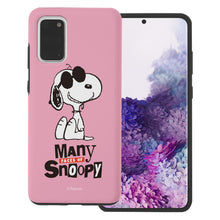 Load image into Gallery viewer, Galaxy S20 Case (6.2inch) PEANUTS Layered Hybrid [TPU + PC] Bumper Cover - Snoopy Face Baby pink