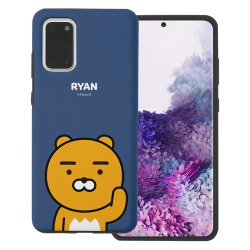 Galaxy S20 Plus Case (6.7inch) Kakao Friends Layered Hybrid [TPU + PC] Bumper Cover - Greeting Ryan