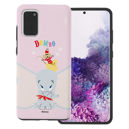 Galaxy S20 Case (6.2inch) Disney Dumbo Layered Hybrid [TPU + PC] Bumper Cover - Dumbo Overhead
