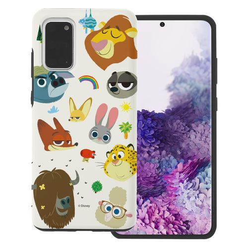 Galaxy S20 Case (6.2inch) Disney Zootopia Layered Hybrid [TPU + PC] Bumper Cover - Zootopia Small