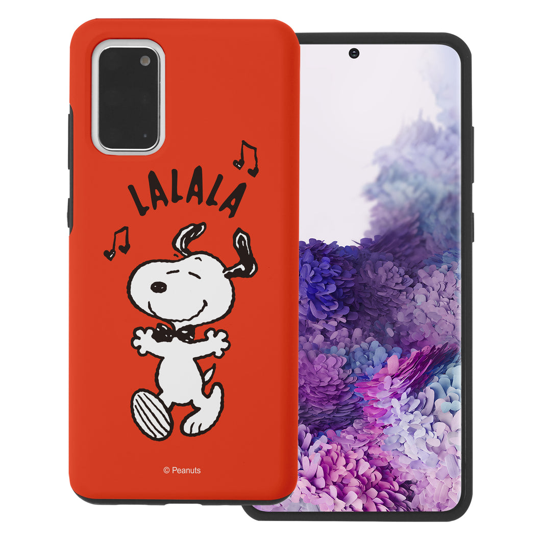 Galaxy S20 Case (6.2inch) PEANUTS Layered Hybrid [TPU + PC] Bumper Cover - Snoopy Lalala