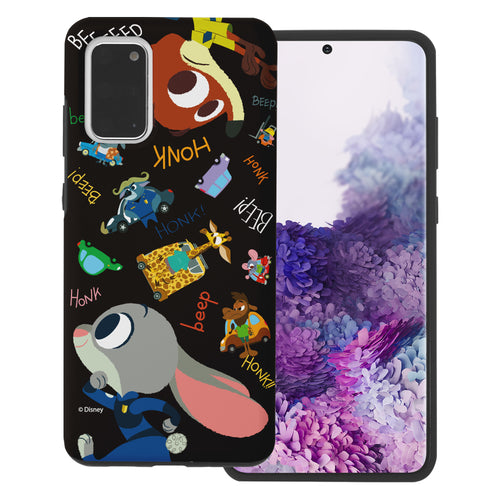 Galaxy S20 Case (6.2inch) Disney Zootopia Layered Hybrid [TPU + PC] Bumper Cover - Zootopia Black